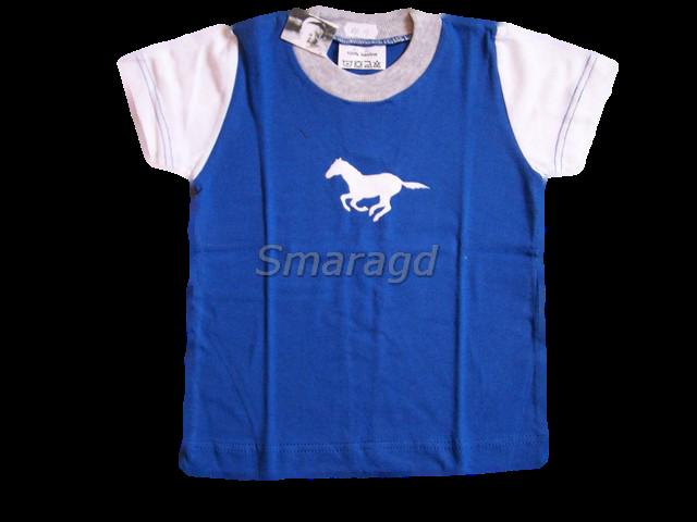 0a29b6189429 Tričko kr. rukáv modré koník