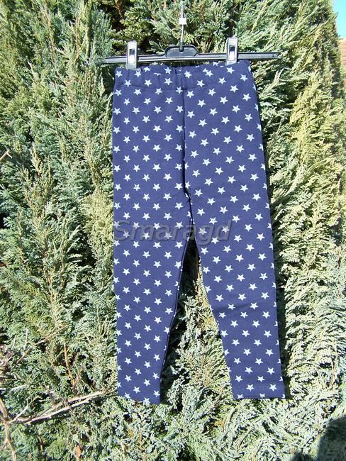 ebefc1da47a Zateplené legíny tmavě modré šedé hvězdičky