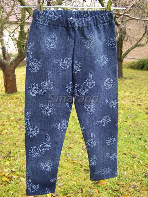 Legíny jeans Růže empty 5adb897314